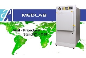 Priorclave Highlights Versatile Front-loading Autoclave at Medlab