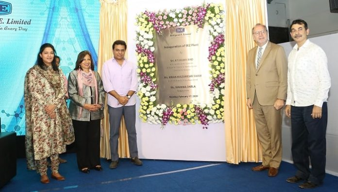 K T Rama Rao Inaugurates BE's Plant at Genome Valley & Unveils Typhoid Conjugate Vaccine