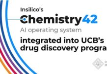 Insilicos Chemistry42 AI system integrated into UCBs drug discovery programs