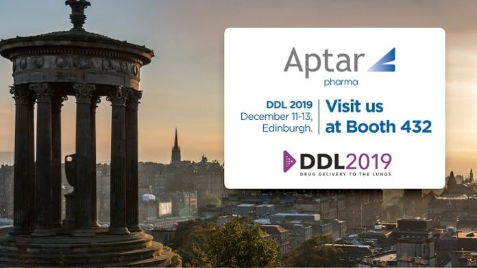 Aptar Pharma, Platinum Sponsor at DDL 2019, to Showcase Expanded Portfolio of Respiratory Innovations and Services