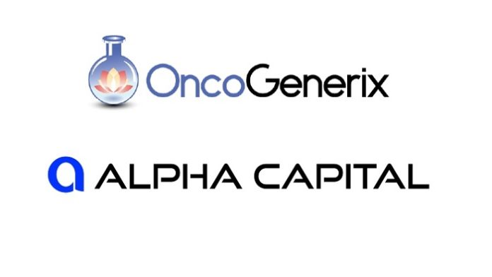 Alpha Capital LLC and OncoGenerix Announce New Pharmaceutical Factory in the US
